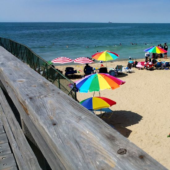 Hanging Out Check This Out At The Beach Colorful Umbrellas Enjoying Life Pattern, Texture, Shape And Form Pattern Design Simplicity Check This Out Relaxing Enjoying People Summer Fun Beach Beach Photography On The Way