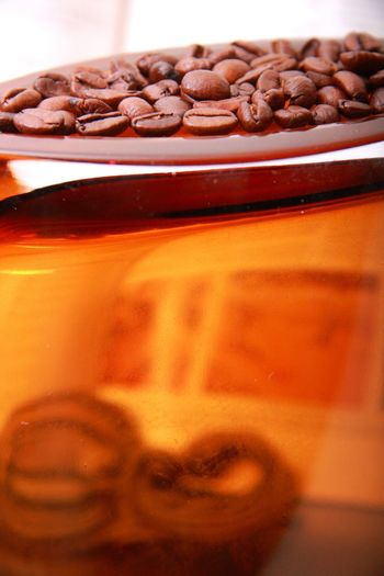 Coffee Art Coffee Beans Java Red Glass  Translucent Taking Photos Glass - Material Brown Coffee Lover