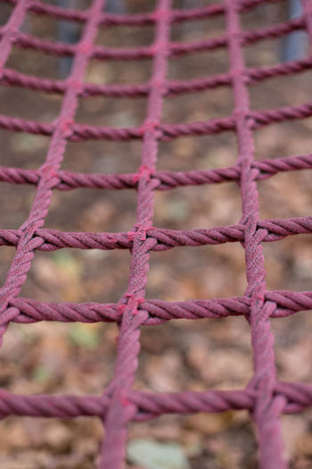 Pink Rope Apparatus Climbing Climbing Frame Close-up Equipment Frame Outdoors Pattern Pink Color Play Equipment Playground Strength Strong