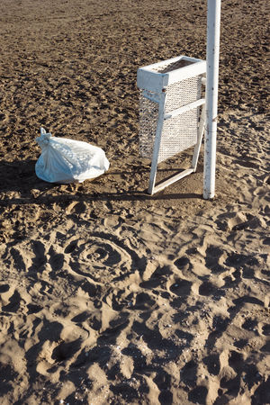 Absence Animal Wildlife Beach Day Dirt Environment Garbage High Angle View Land Nature No People Outdoors Plastic Sand Seat Shadow Sunlight Venice Water