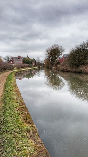 Waterway Canal Cloud - Sky Sky Reflection Outdoors Landscape Water Nature