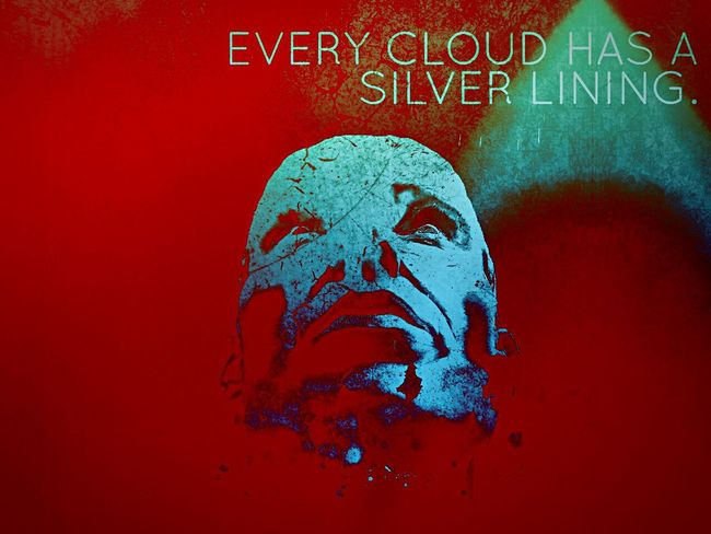 Every Cloud Has A Silver Lining Face Selfportrait Self Portrait Dark Photography Rebelpunk She's No Angel Darkside Looking Up Digital Art