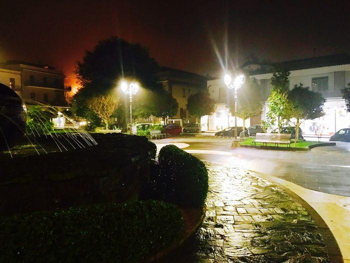 Piazza centrale di trecastagni in provincia di Catania Night Illuminated Outdoors No People Architecture First Eyeem Photo