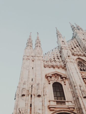Low Angle View Architecture Spirituality Clear Sky No People Rose Window Milano Italy Duomo Di Milano Cathedral