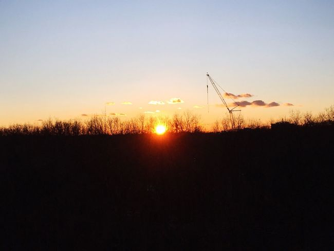 Evening Sunset Silhouette Copy Space Sky Nature No People Scenics Tranquility Sun