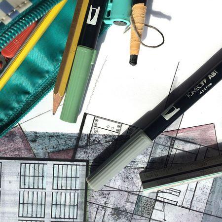 Architecture Tombow Art Onpaper Doodling Brainstorming Design