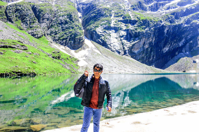 Water Adult Day Standing One Person Nature Vacations Outdoors Lifestyles Leisure Activity Summer Lake Adventure Beauty In Nature Only Men Northeastindia Dehradun Trek Northindia Valleyofflowers Beauty Springtime