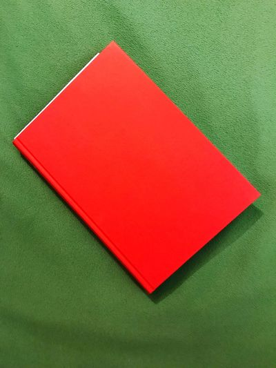 Novel Literature Book Red Green Color Textured  No People