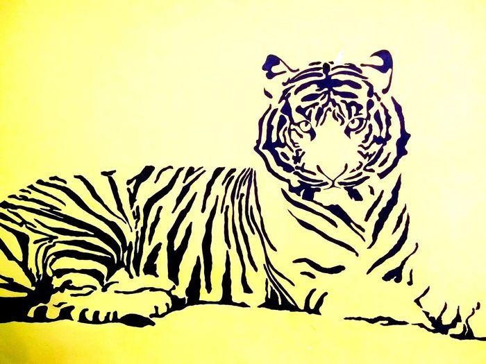 siluet Tiger Tiger Siluet Siluet Tiger Zebra Portrait Old-fashioned Men Bird Retro Styled Striped Sky