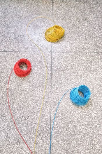 High Angle View Multi Colored Pattern No People Close-up Best EyeEm Shot Capture The Moment From My Point Of View Amazing View 华北电力大学 Peaceful Circle Wires Wire Art Colorful Design Live For The Story The Architect - 2018 EyeEm Awards