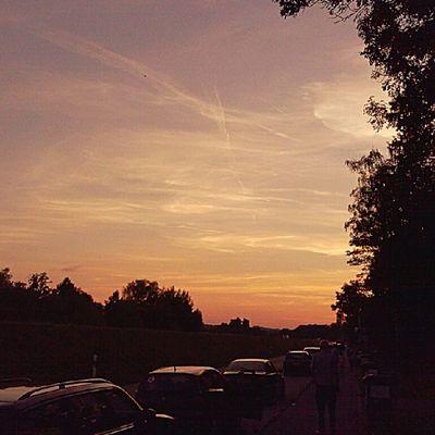 Tramonto Germanico .. Germania Germany Sunset streetphoto Smartphonephoto