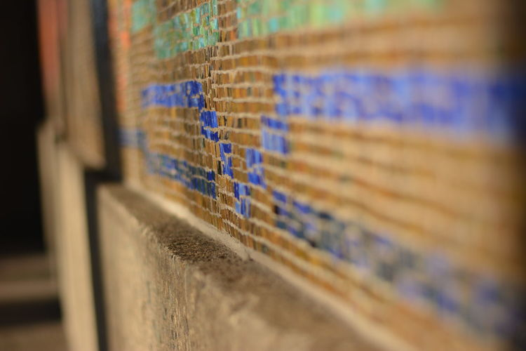 Architectural Feature Architecture Archives Blue Close-up In A Row Mosaic No People Pattern Patterns Selective Focus Tiles Tiles Textures Wall