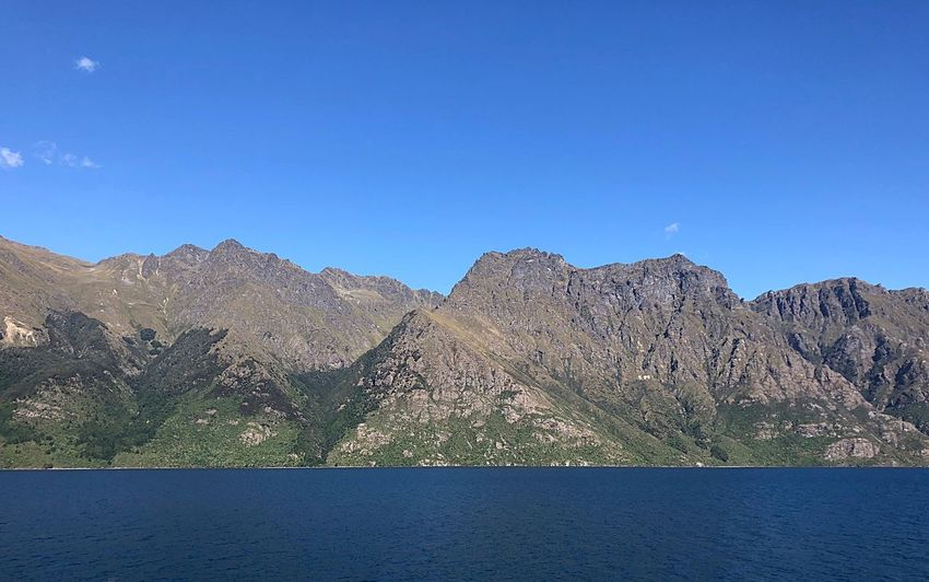 Horizontal EyeEmNewHere Mountain Mountain Range Nature Clear Sky Lake Blue Scenics Tranquility Landscape No People Beauty In Nature Water Outdoors Tranquil Scene Day Physical Geography Sky