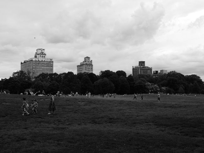 Nature Photography Architecture Black And White Photography Building Exterior Built Structure City Cloud - Sky Day Field Grass Men Nature Nyc Park Outdoors Park People Real People Sky Sport Summer Tree