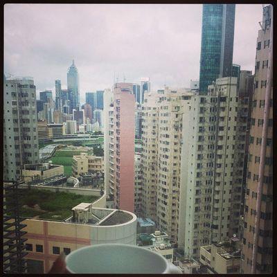 Rainy Sunday in HongKong Needanotherbrew Viewfromourflat Happyvalley Skyscrapers Racecourse