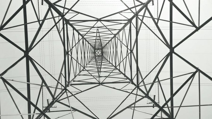 Power tower Connection Pattern No People Cable Concentric Electricity Pylon Technology Backgrounds Sky Outdoors Nature Day Digitally Generated Close-up Architecture