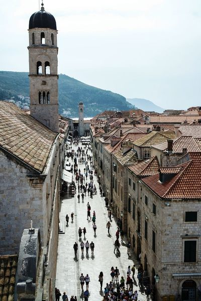Main street of old Dubrovnik taken from city walls Taking Photos Cityscapes Eye4photography  Open Edit Fresh 3 BOB Brick Old Building Cityscape Urban Landscape Street Photography Learn & Shoot: Leading Lines