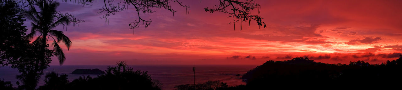 Beauty In Nature Cloud - Sky Costa Rica Costa Rica Sunset Costa Rica 🇨🇷 Dramatic Sky EyeEm New Here Landscape Manuel Antonio Manuel Antonio Park Nature No People Outdoors Red Color Romantic Sky Scenics Sea Silhouette Sky Sunset Sunset Glow Sunset_collection Tourism Tropical Paradise Vacations
