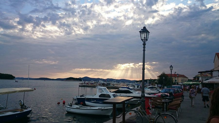Pakoštane Croatia Light Harbor Boat Nofilter Mobilephotography