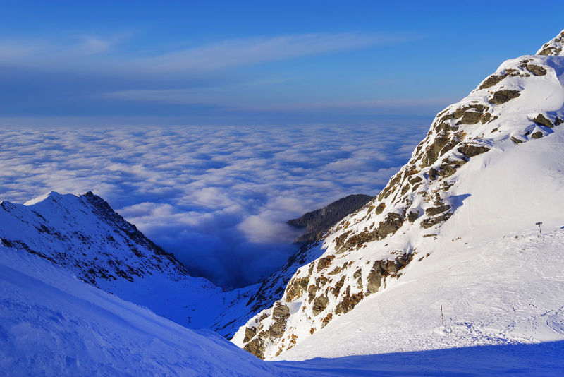 Landscape_Collection Romania Sunset_collection Transylvania Travel Travel Photography Winter Wintertime Balea Lake Blue Cold Europe Fagaras Fagaras Mountains Fagarasmountains Landscape Landscape_photography Negoiu Resort Ridge Sunset Transylvanian Alps Travel Destinations Travelphotography Valley