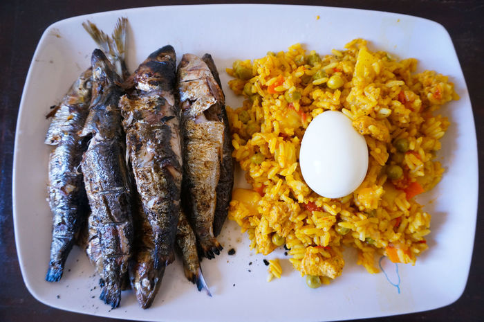 Sardine Grilled Fish Rice Egg Food Fish Seafood Freshness Food And Drink Healthy Eating Paella Food State Fried Plate Boiled Egg Hungry On The Table Gourmet Sardines Sardines Grillees Foodporn Foodphotography Cuisine Marocaine Moroccan Cuisine Moroccan Kitchen