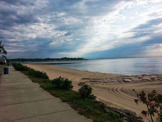 Morning Walk Sand Simple Elegance Clouds And Sky Good Morning Long Island Sound Connecticut Beach Woodmont Shoreline