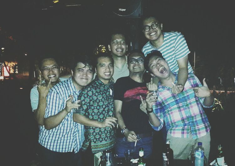 boys always be boys..10 years and still counting.. Crazy Friendship!! <3 Drinking Absolut Vodka Laughing