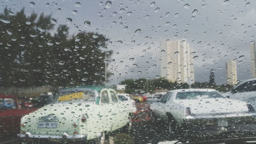 Window Wet Drop Water Rain Weather Transportation Rainy Day RainDrop Classic Car Classic Car Show