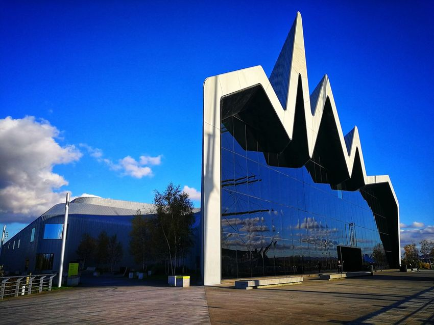 Architecture Built Structure Blue Outdoors No People Modern ZahaHadid Reflection Clear Sky Architecture