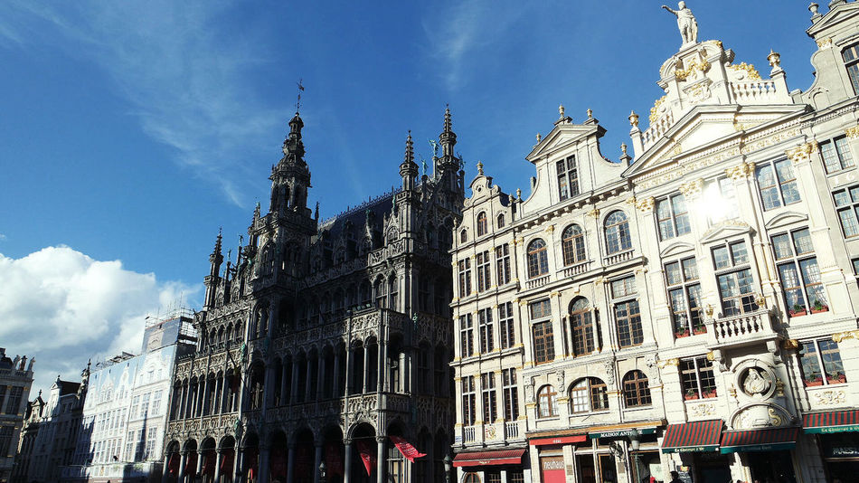 Architecture Belgium Brugge Building Exterior Built Structure City Cloud - Sky Day Low Angle View No People Outdoors Public Places Sightseeing Sky Town Hall Travel Destinations