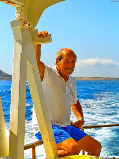 Blue Fisherman Nature Outdoors Sea Sunlight Tranquility Water Go Higher