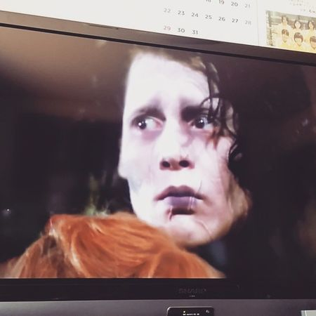 感情って不思議ね😭✂✂✂♡ Johnnydepp ScissorHands Edward Like impressionlovestoryedwardscissorhandslovefantasyシザーハンズジョニーデップ最高泣ける