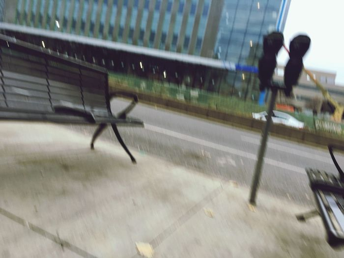 City Downtown Walking Sidewalk Road Parking Meter Building Blur Bench Sport Blurred Motion Motion Day Lifestyles Outdoors