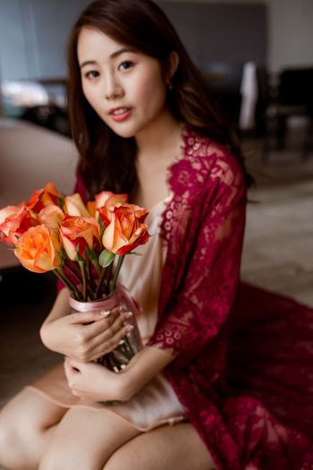 Lace Red Lace Beauty Romance Flowers Roses Portrait Of A Woman Flower Flowering Plant One Person Beauty Women Indoors  Young Women Beautiful Woman Beauty In Nature Rose - Flower Lifestyles Bouquet