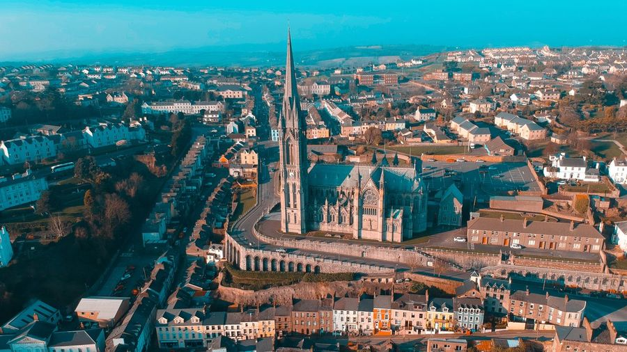 Cobh EyeEm Selects Building Exterior City Architecture Built Structure Cityscape Building High Angle View Aerial View Sky Nature No People Travel Destinations Residential District Outdoors City Life Street Tower Office Building Exterior Skyscraper Steel