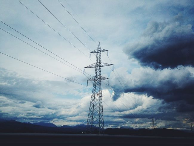 Weather Lightblue Cloud - Sky Sky Electricity Pylon Power Line  Cable Electricity  Connection Electricity Tower Power Supply Fuel And Power Generation Outdoors