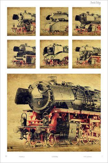 Steam Locomotive Dampflokomotive Dampfloks Trains Dampflok Train Modelltrain Modell Train Zeichnungen Painting Charcoal Pencil Drawing Old Train Art, Drawing, Creativity ArtWork