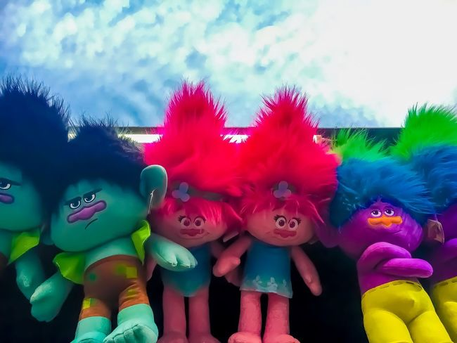 It's all in the attitude. Attitude #stuffedtoys #cute Multi Colored Day Outdoors No People Close-up Sky