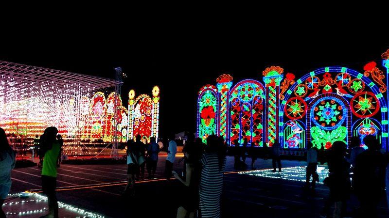 Multi Colored Illuminated Silhouette Electric Light Light Bulb