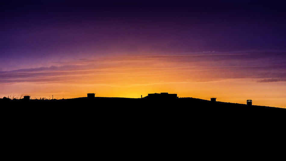 Sunset at Bempton Cliffs Beauty In Nature Dramatic Sky Nature No People Outdoors Scenics Silhouette Sky Sunset
