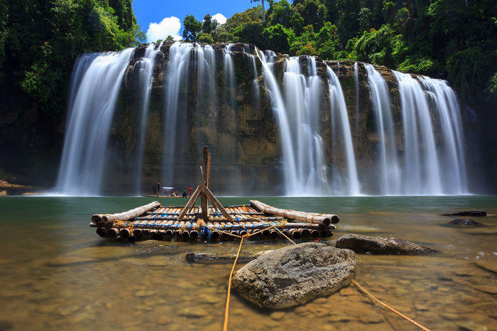 Tinuy-an Falls Water Waterfall Motion Scenics - Nature Beauty In Nature Long Exposure Rock Flowing Water Nature Rock - Object Travel Blurred Motion Rock Formation Flowing Falling Water Power In Nature Landscape Landscape_Collection Travel Destinations