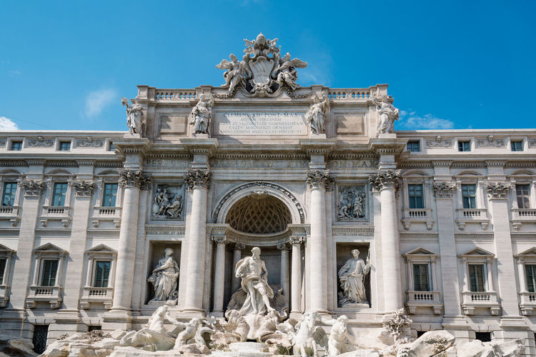 Trevi Fountain Against Sky In City