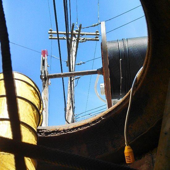 Manhole  Utilities Fiber Optics Cable Rope