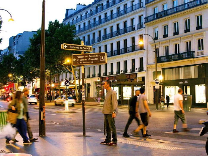 2 Days Ago Adult Architecture Boulevard Building Exterior Built Structure City City Life Full Length Grands Boulevards Illuminated Large Group Of People Man Standing Men Night Night In Paris Night In The City Outdoors People Real People Street Street Light Street Photography Walking Women