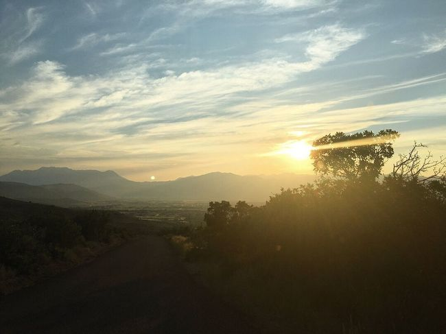 good healthy dose of summer tonight. riding shotgun. Summer Heber City Utah Wasatch County Sky Cloud - Sky Sunset Beauty In Nature Tree Tranquility Scenics - Nature