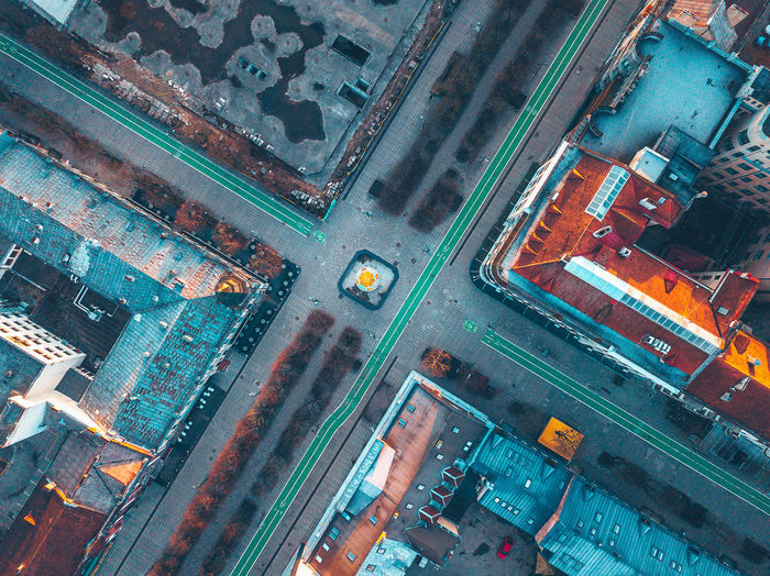 Freedom Avenue Aerial Shot City Drone  Aerial Architecture Birds Eye View Building Building Exterior Built Structure City Drone Photography Freedom Avenue High Angle View Laisves Aleja Mavic Mavic Pro Mode Of Transportation No People Transportation The Architect - 2018 EyeEm Awards