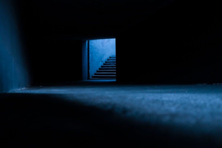 Streetphotography Light And Shadow Darkness Fujifilm Street Photography Check This Out Outdoors Composition Photography Stairway Stairs No People Blue Blue Light Mysterious Ground From My Point Of View Photo Tbilisi The Way Forward EyeEm Diversity Breathing Space Neon Life BYOPaper! Let's Go. Together. HUAWEI Photo Award: After Dark