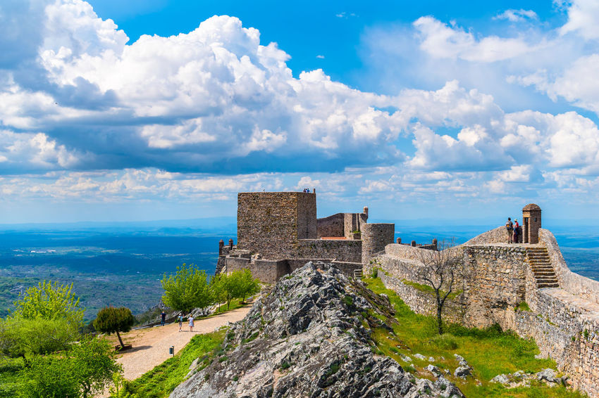 castelo de Marvão Ancient Ancient Civilization Archaeology Architecture Building Exterior Built Structure Castle Cloud - Sky Day Fort History Nature No People Old Old Ruin Outdoors Plant Ruined Scenics - Nature Sky The Past Travel Travel Destinations