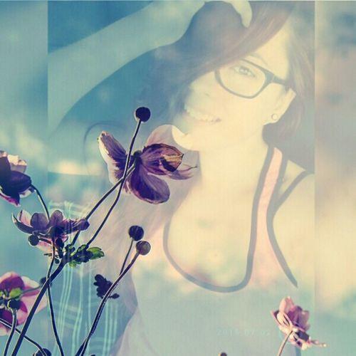 Flowers Smile JustDoIt Hello World Yeah Like Glasses Brown Eyes Foreveralone