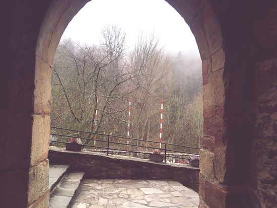 View out of the castle. Arched Gateway Archways Archway Built Structure Architecture Railing Arch Connection Day Outdoors No People Building Exterior